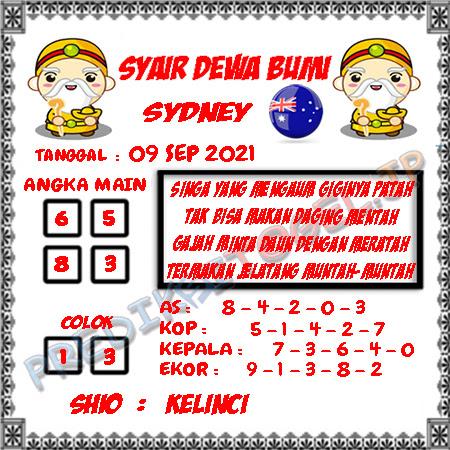 Syair Dewa Bumi Sidney Hari Ini 09-09-2021