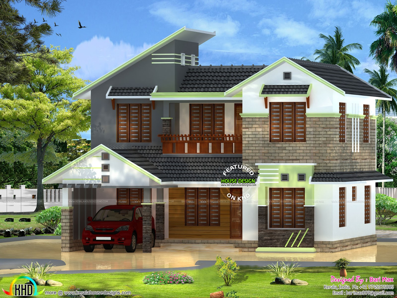 5 BHK house design in 2000 sqft  Kerala home design and floor plans