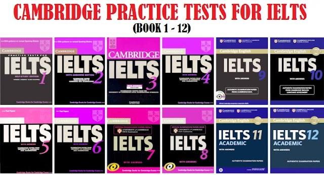 تحميل  IELTS Cambridge Series (from book 1 to 12) كاملة مجانا