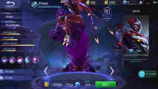Gear Hero Zhask Mobile Legend Terkuat Paling Baru