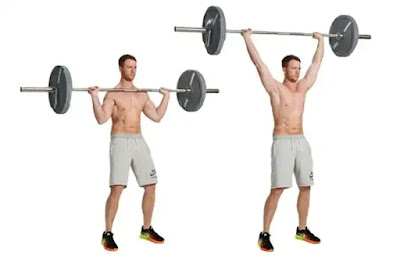 barbell standing press