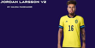 PES 2021 Faces Jordan Larsson by Maijna