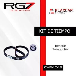 Kit De Tiempo Renault Twingo 16v. Venta de repuestos Peugeot, Volkswagen, Citroen, Centauro, Renault y Chery. En Autopartes RG7 Puedes comprar por internet sin salir de casa. Realizamos entregas a domicilio en toda Venezuela. Compras al por mayor, repuestos nuevos autos Autopartes mercadolibre