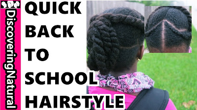 BACK TO SCHOOL HAIRSTYLE | PROTECTIVE STYLE | NATURAL HAIR for GIRLS DISCOVERINGNATURAL