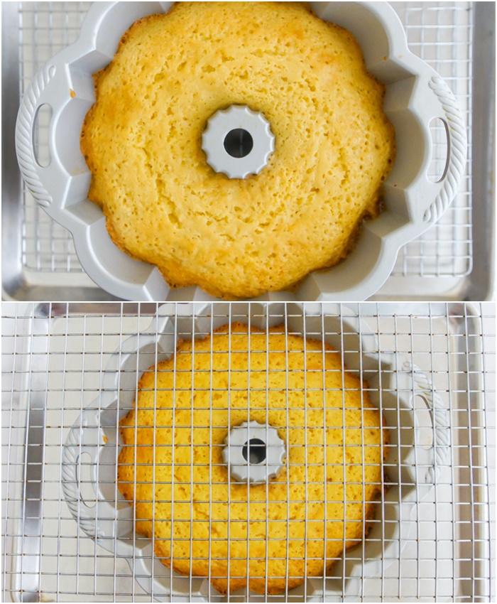 invert cake from bundt pan