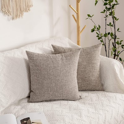 linen looking pillow cover