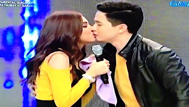 Alden and Maine their first kiss