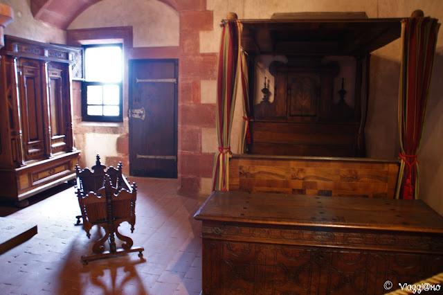 Arredi nelle stanze del castello di Haut Koenigsbourg