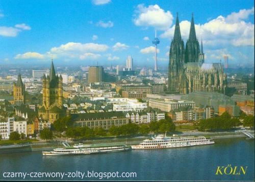 Postcrossing: Köln- Mistrzowskie miasto, piękna katedra i magia świateł!