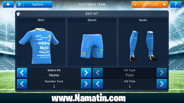 Seragam Dream League Soccer Persib Home