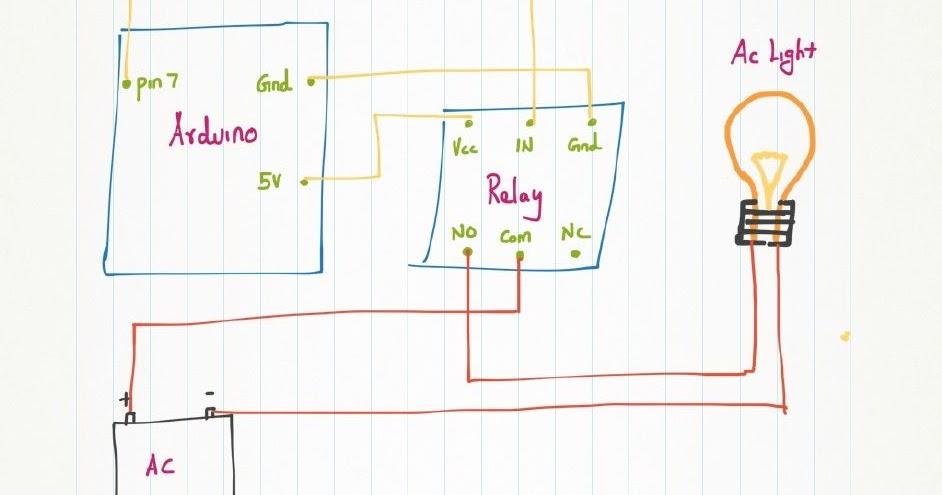 Proyek arduino uno r menyalakan lampu rumah ac