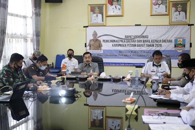 Pjs Bupati Pesisir Barat Gelar Rapat Koordinasi Tingkatkan Partisipasi Masyarakat di Pilkada Mendatang