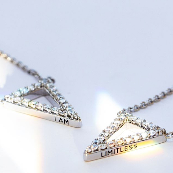 I am Limitless Triangle Necklace at StoriedCharms.com