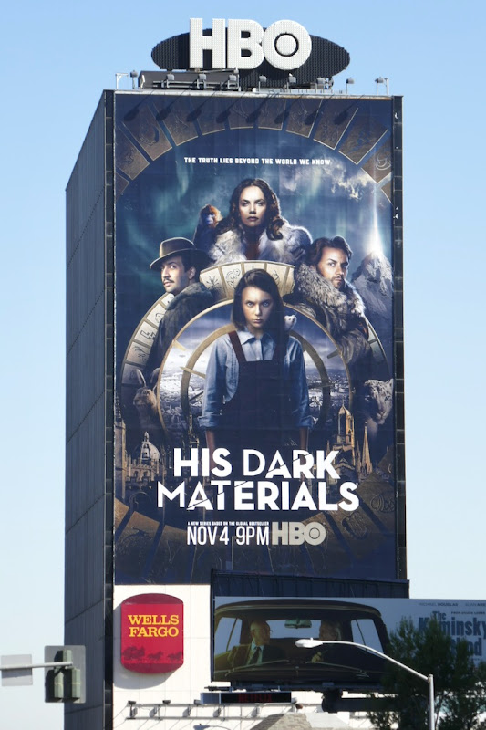 Giant His Dark Materials series launch billboard