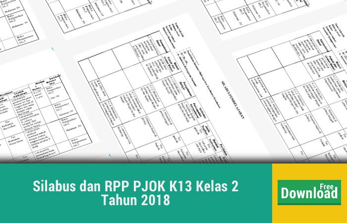 Silabus dan RPP PJOK K13 Kelas 2 Tahun 2018
