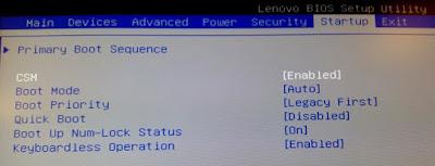 LENOVO - BIOS - Startup - CSM