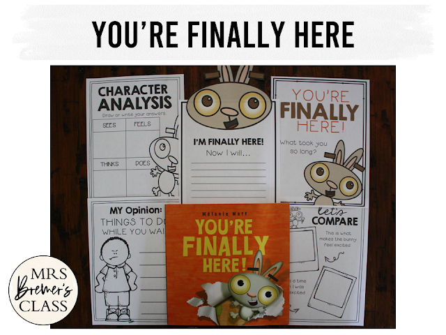 You're Finally Here book study companion activities for back to school K-1