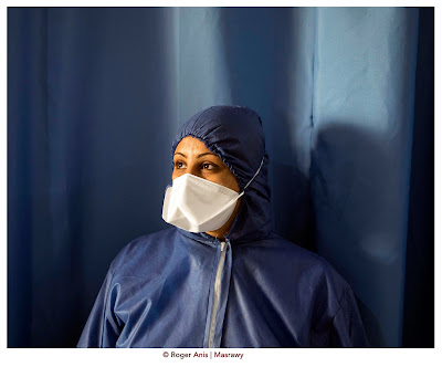 Nursing supervisor Rehab Shaaban from Al-Abassiya fever hospital
