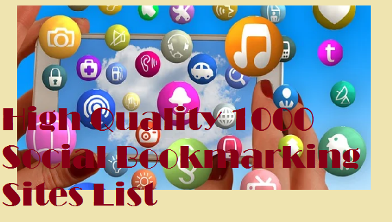 high quality 1000 bookmarking submission site list 2020