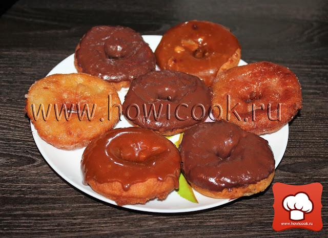 Рецепт вкусных американских пончиков донатсов с глазурью