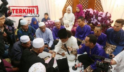 Atu Zero dan Shafeeqa Johari sah bergelar suami isteri