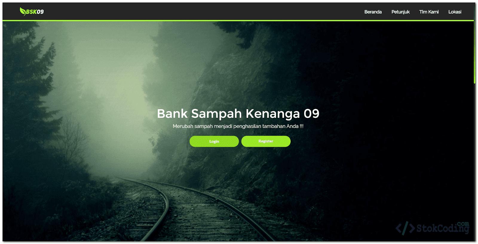 Sistem Informasi Bank Sampah Berbasis Web (PHP)