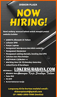 We Are Hiring at Diskon Plaza Surabaya Juli 2020