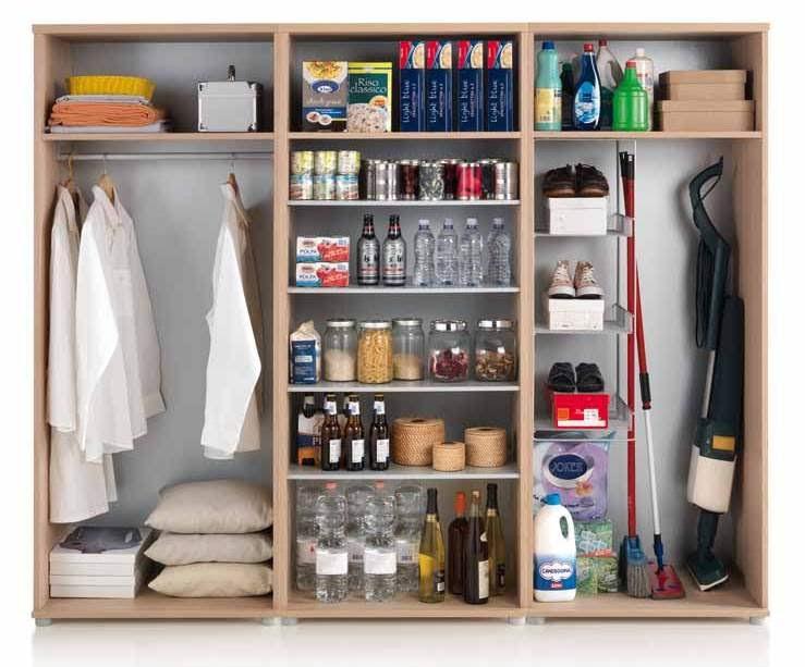 Domus arredi armadio ripostiglio scarpiera letto pieghevole paggetto mobili lavanderia idee - Organizzare camera da letto ...