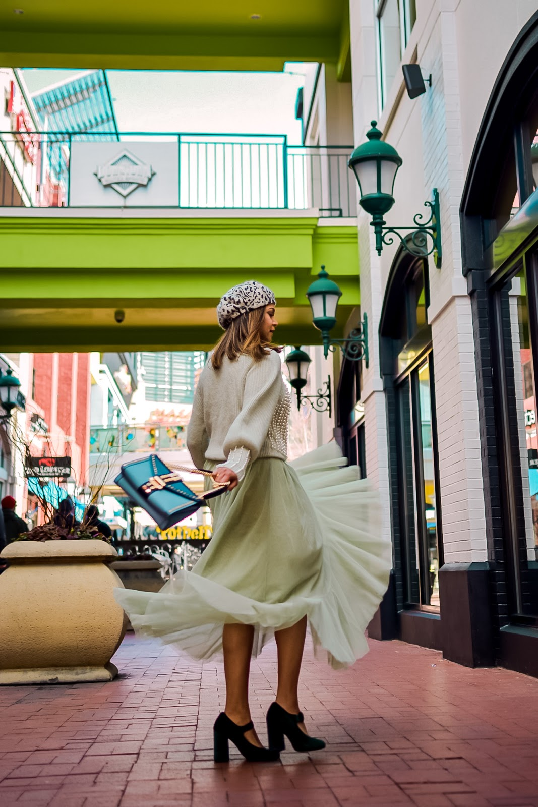 six things to buy after Christmas, shopping, holiday shopping, point pearl sweater, pistachio green tulle dress, holiday style, velvet mary janes, street style, wedding outfit, saumya shiohare, myriad musings