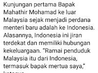 Jokowi Salah Twit, Kunjungan Mahathir ke Indonesia Bukan Perdana