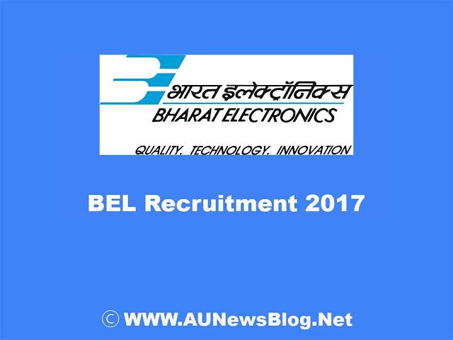 BEL Recruitment 2017 for Deputy Engineers 24+ Vacancies