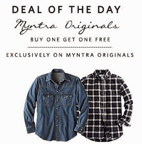 Buy 1 Get 1 Free Offer on Myntra Originals Clothing + Extra 42% Off @ Myntra (Hurry!! Valid for Today)