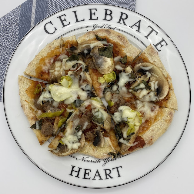 Homemade Healthy Pizza on Celebrate Dinner Plate