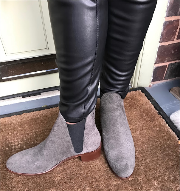 My Midlife Fashion, Hudson compound suede boots