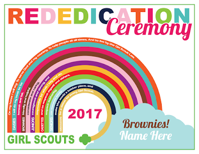 Girl Scout Custom Rededication Ceremony Certificate