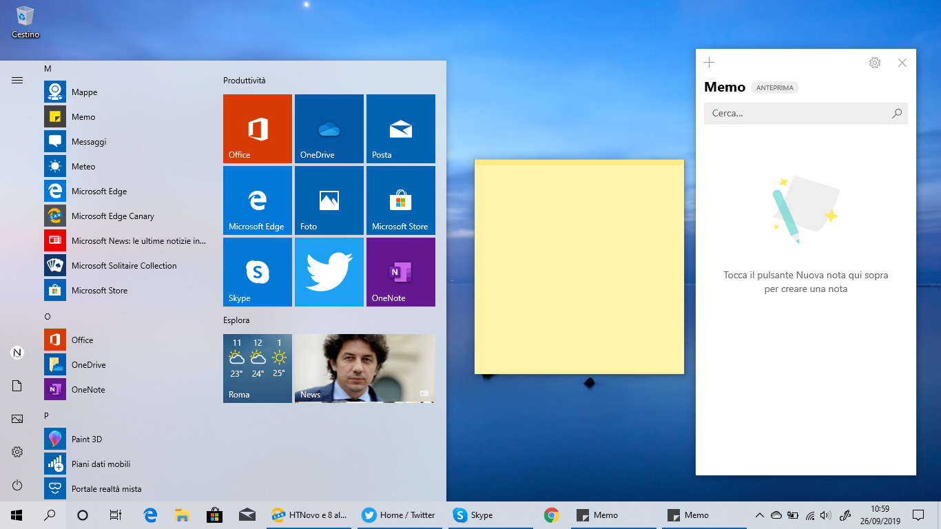 Memo (Sticky Notes) si aggiorna in Windows 10 con novità