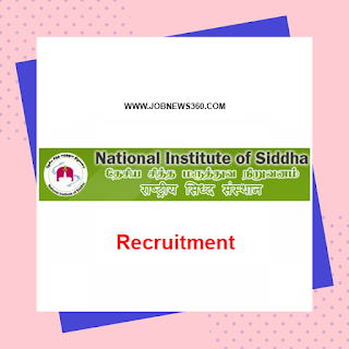 NIS Chennai Walk-IN 28th September 2019 for Programme Assistant, Lecturer, SRF