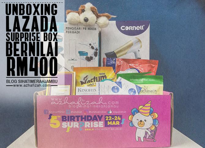 Unboxing Lazada Surpri5e Box Bernilai RM400