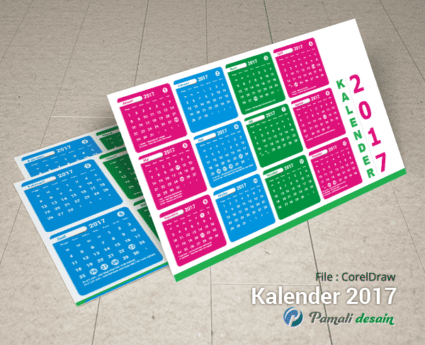 Download Gratis Kalender 2017 Format CDR