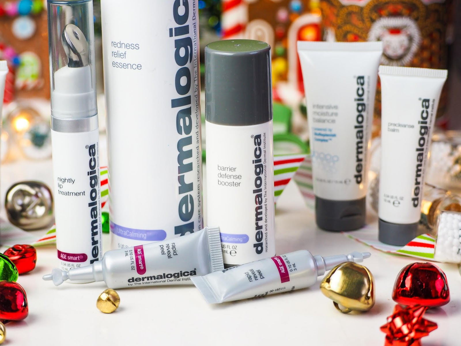 Christmas Gifting With Dermalogica*, Barrier Defense Booster*, Rapid Reveal Peel*, Nightly Lip Treatment*, Redness Relief Essence*, Precleanse Balm*, Intensive Moisture Cleanser*, Intensive Moisture Balance* Skin Smoothing Cream*, Daily Microfoliant*, Special Cleansing Gel* Review