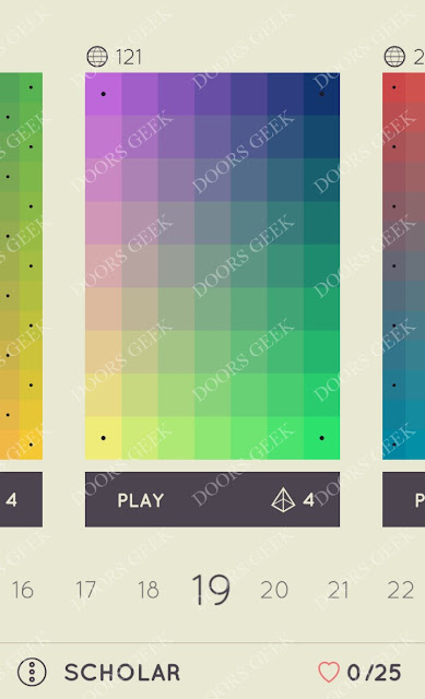 I Love Hue Scholar Level 19 Solution, Cheats, Walkthrough