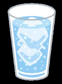 炭酸飲料のイラスト(青)