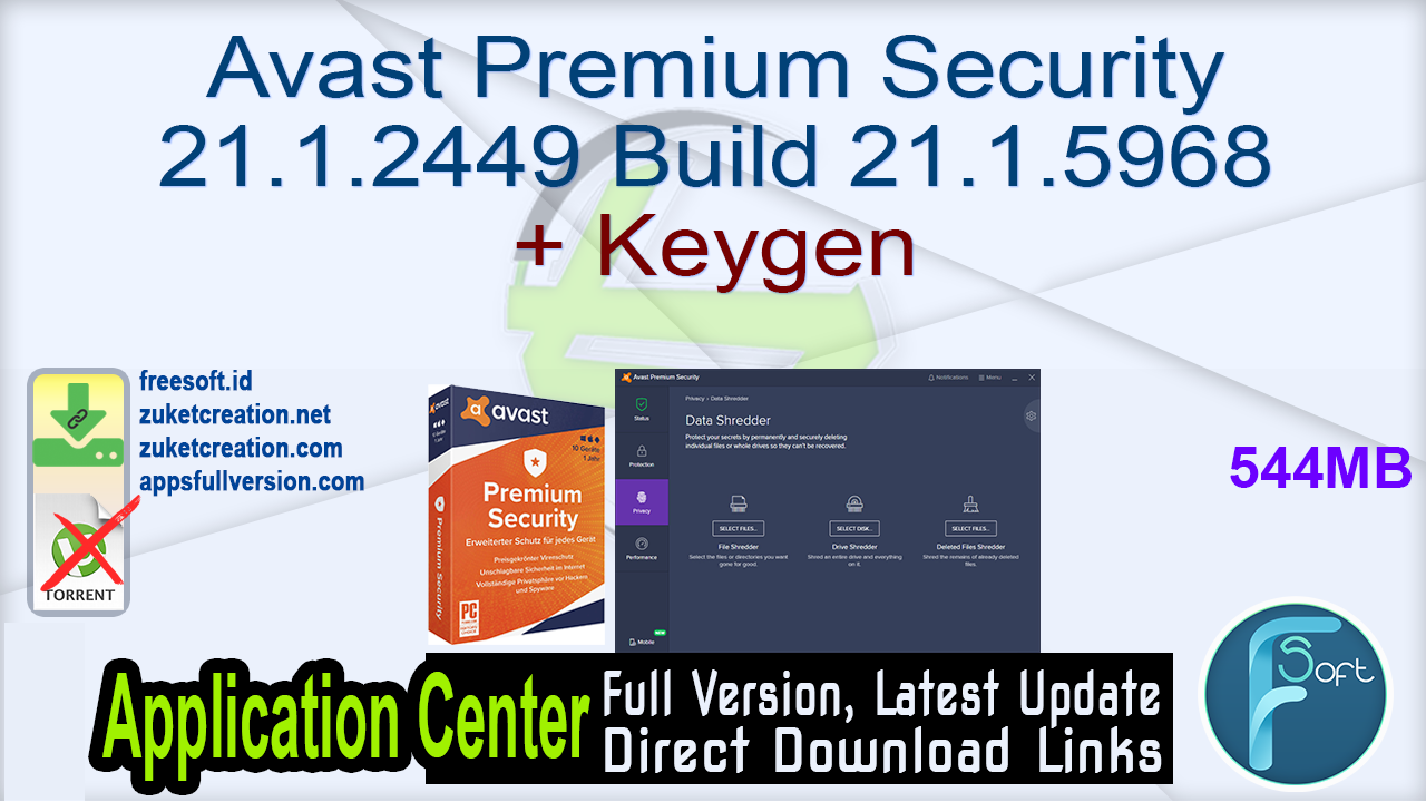 Avast Premium Security 21.1.2449 Build 21.1.5968 + Keygen