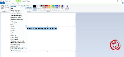 4. Terakhir, pilih jenis teks atau font yang kalian inginkan