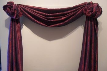 This Scarf Swag Does Not Hang From A Curtain Rod It Hangs Metal Holders Allows Us To Add Some Extra Features Our Finished
