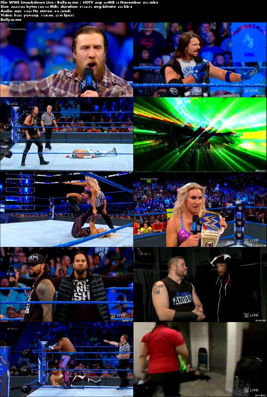 WWE SmackDown Live HDTV 480p 250MB 14 November 2017 Download