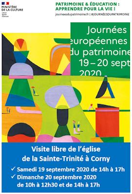 Affiche JEP 2020 Corny Frenelles en vexin
