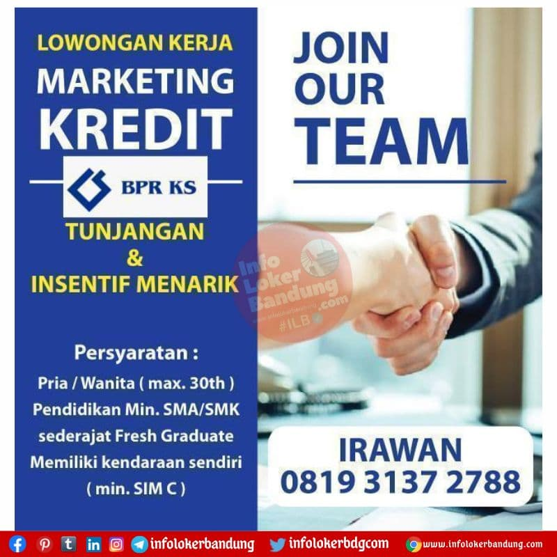 Loowngan Kerja BPR KS Setiabudhi Bandung Agustus 2021