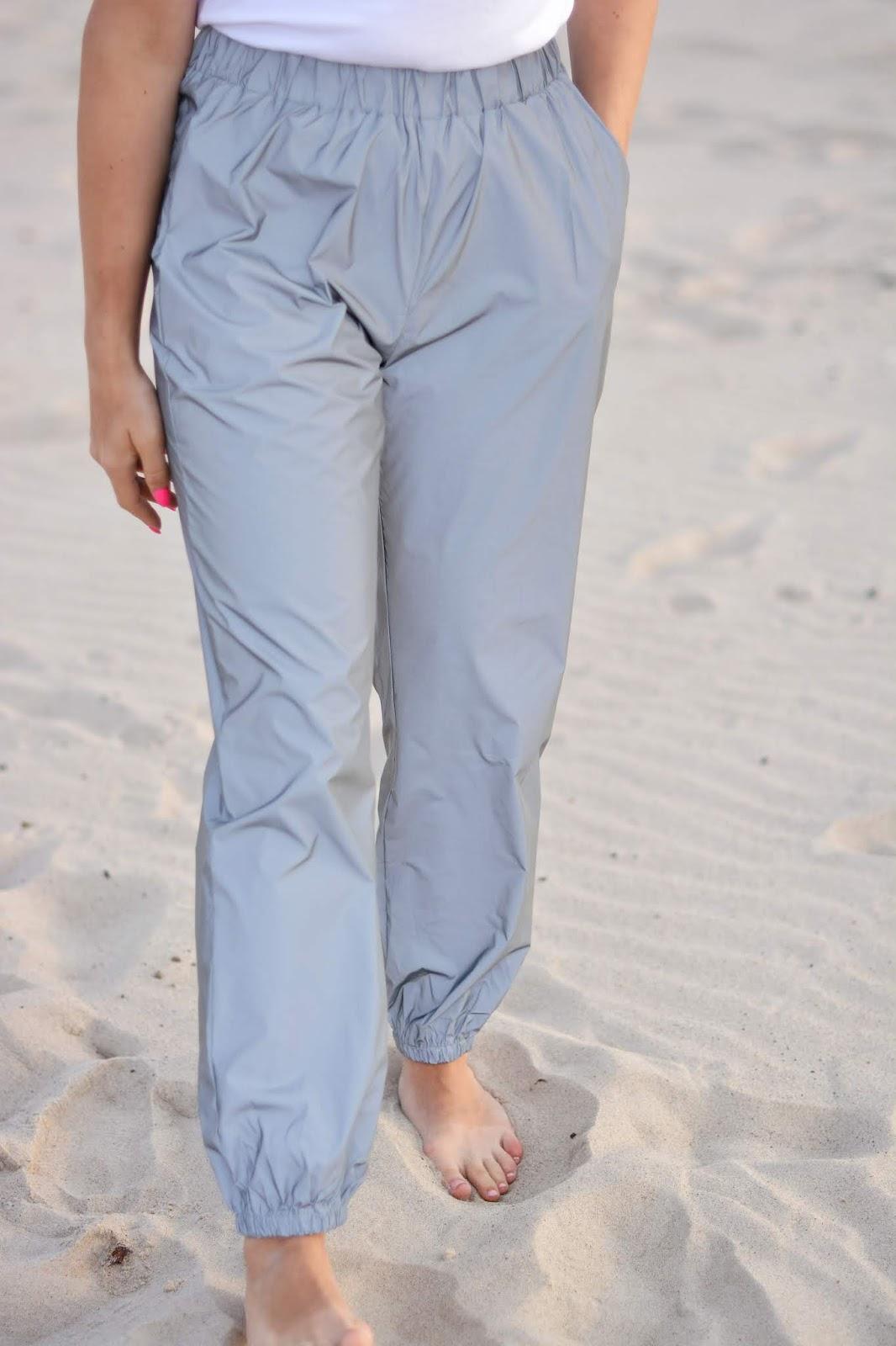 Grey Reflective Cuffed Trousers