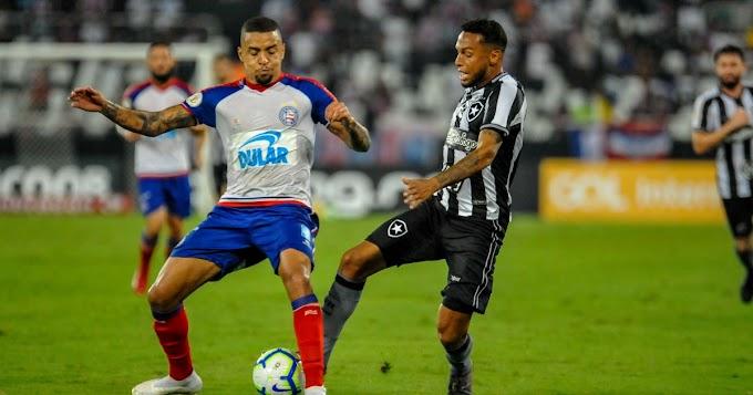 Bahia sai na frente, mas sofre virada do Botafogo no Brasileirão
